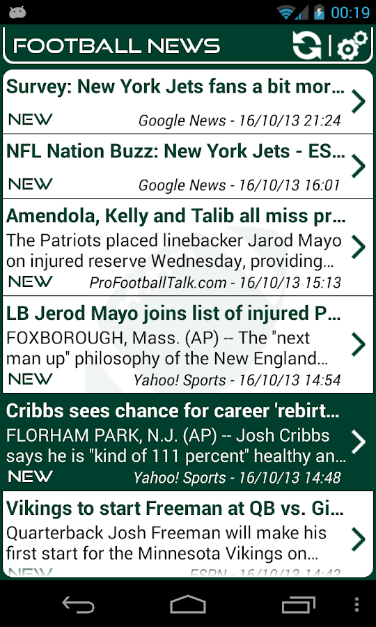 New York J. Football News - screenshot