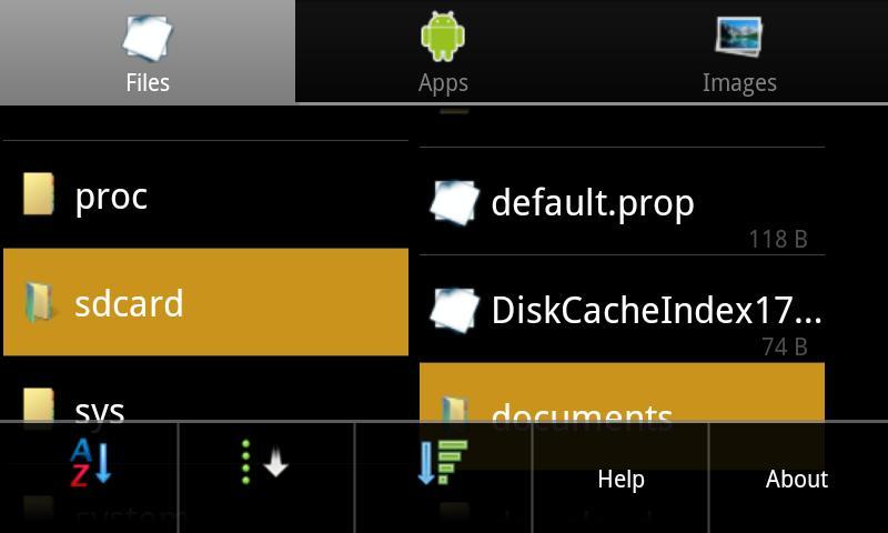 Explorer-Lite for Anroid- screenshot