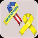 Yellow Ribbon doo-dad icon