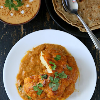 Gobi Musallam – Whole Roasted Cauliflower with Creamy Makhani Gravy. Vegan Glutenfree