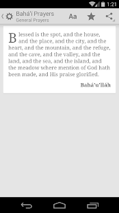 Baha'i Prayers - screenshot thumbnail