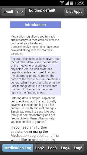Medication Logs