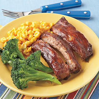 Molasses-and-Mustard-Glazed Ribs.