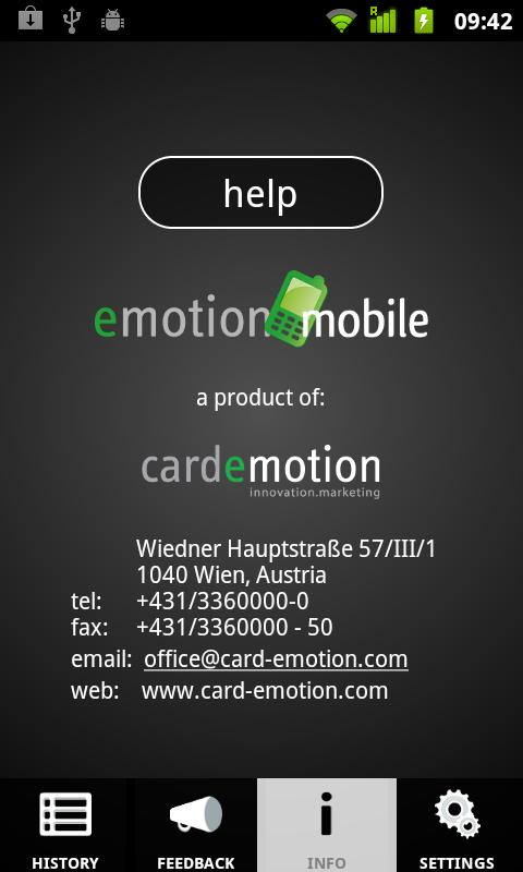 emotionMobile- screenshot
