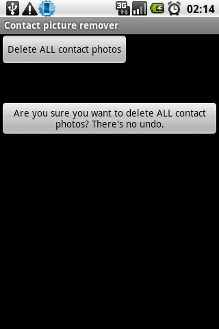 Contact picture remover - screenshot