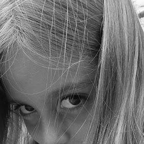 by Marijan Alaniz - Black & White Portraits & People ( , best female portraiture )