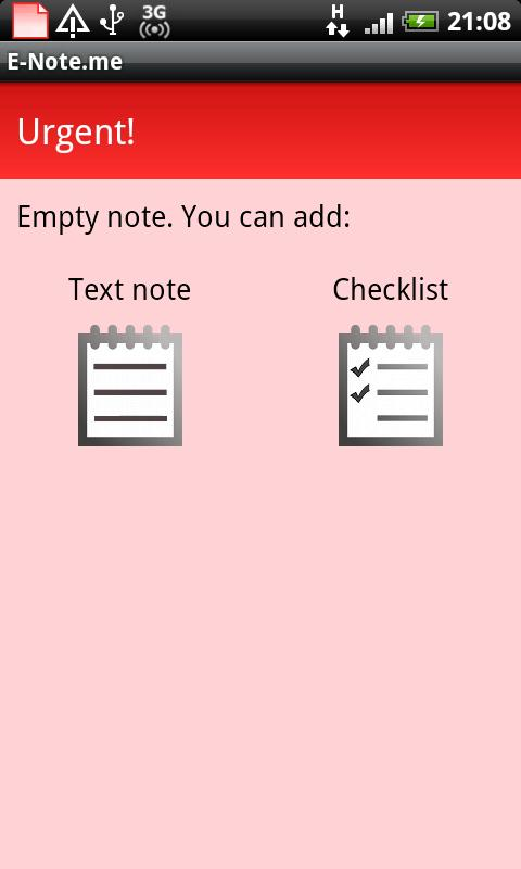 E-note.me - to do lists/notes - screenshot