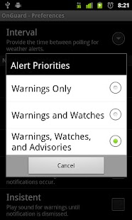 Onguard Weather Alerts- screenshot thumbnail