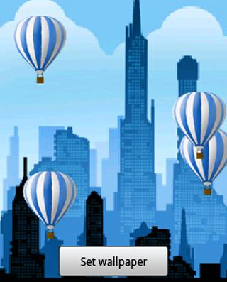Hot air balloon Live Wallpaper - screenshot
