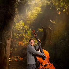 Magical Upright by Lance Emerson - People Musicians & Entertainers ( music, bass, musician, rose canyon, symphony, upright bass, la jolla, classic )