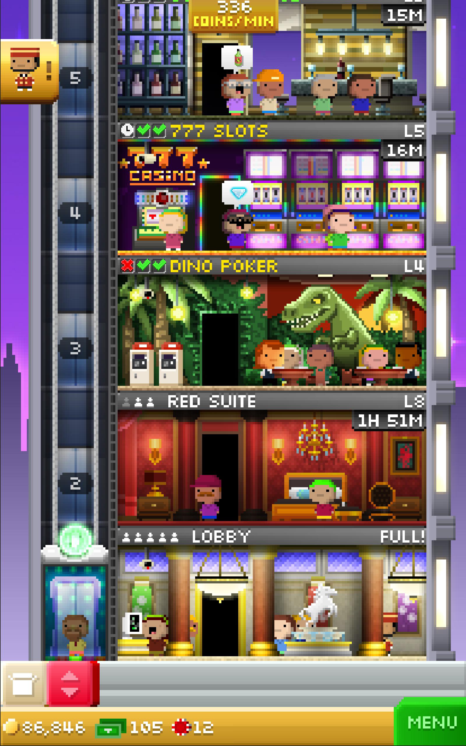 Tiny Tower Vegas screenshot #6