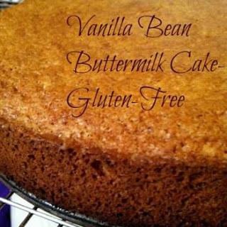 Vanilla Bean Buttermilk Cake Gluten Free