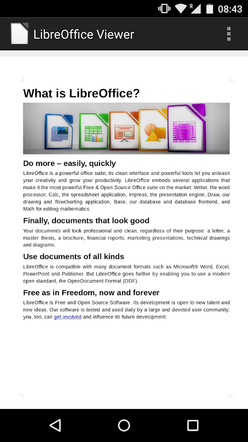 LibreOffice Viewer Beta- screenshot