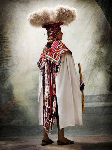 XIX, Male costume for the Carnaval de Ccatcca, district of Ccatcca, province of Quispicanchi, Cusco, Peru 2010