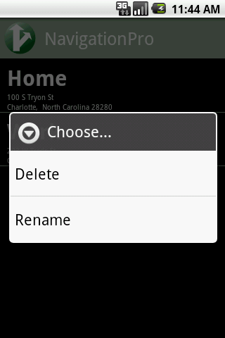 NavigationPro+- screenshot
