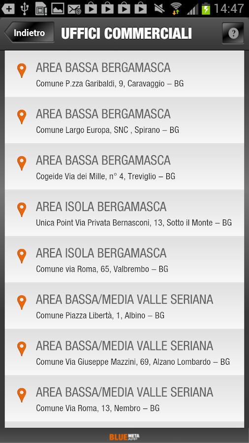 Bluemeta App gas e luce - screenshot