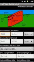 Screenshot of Brick-Block Calc Pro Select