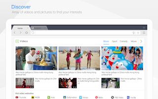 Screenshot of Baidu Browser for Tablet