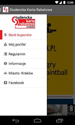 Studencka Karta Rabatowa - screenshot