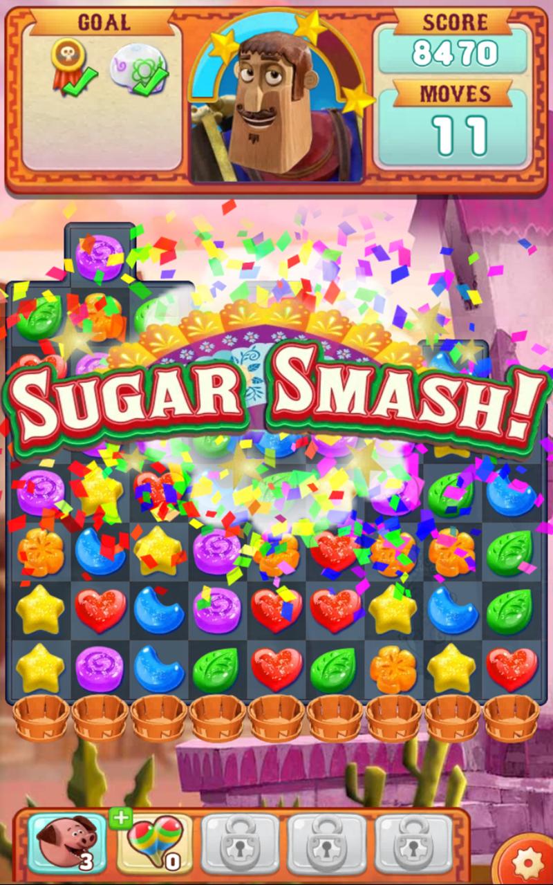 Sugar Smash: Book of Life - Free Match 3 Games. Screenshot 11