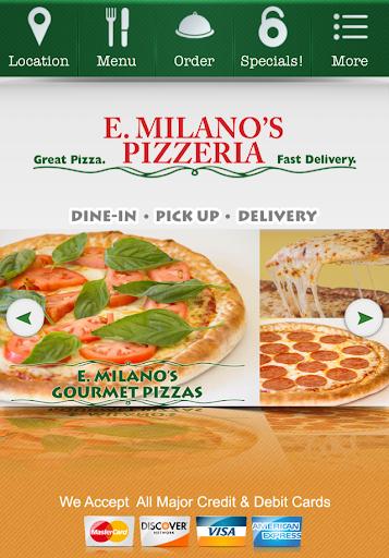 E. Milano's Pizzeria