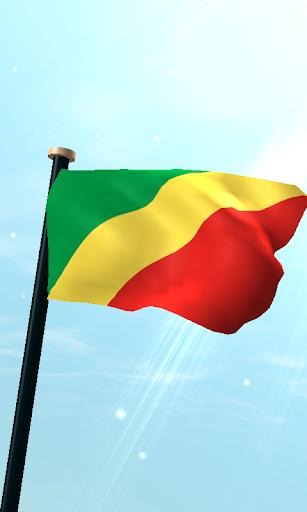 剛果共和國旗3D免費動態桌布