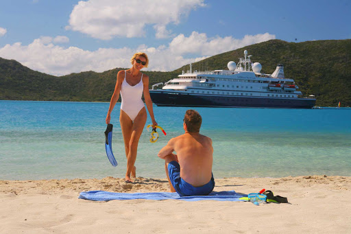 snorkel-beach-SeaDream - Find the perfect small cove to go snorkeling on your SeaDream cruise.