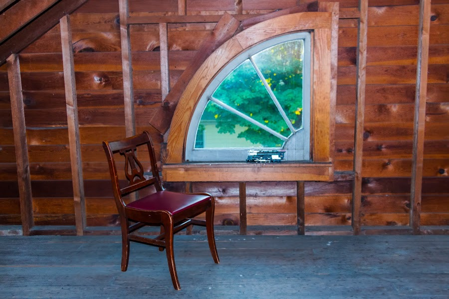 Have a seat by Michael Wolfe - Buildings & Architecture Architectural Detail ( old house, chair, window, train, house,  )