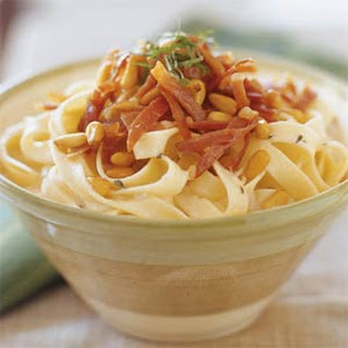 Fettuccine with Gorgonzola and Prosciutto Recipe