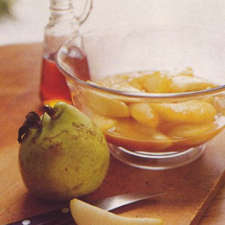 Pears Glazed with Maple Syrup.
