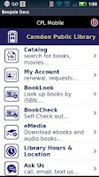 Screenshot of Camden Public Library Mobile