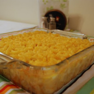Southern Style Baked Macaroni and Cheese.