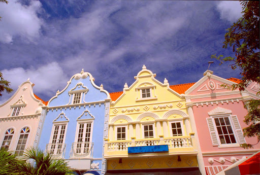 Oranjestad-houses-Aruba - Houses in Oranjestad, Aruba's capital and the island's major city.