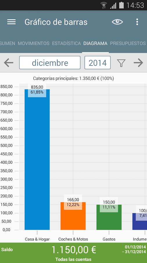 Mi presupuesto - screenshot