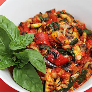 Grilled Vegetable Ratatouille With Fried Capers.