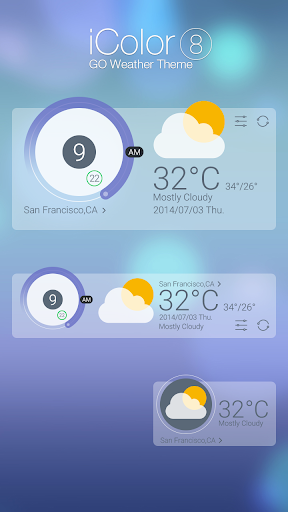 ICOLOR8 THEME GO WEATHER EX