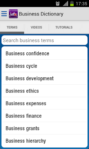 Business Dictionary Glossary