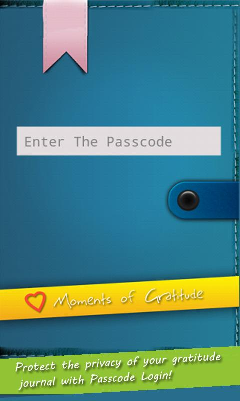 'Moments of Gratitude' Journal- screenshot