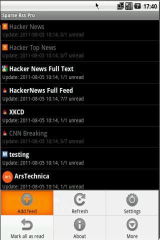 ★★★★★ Full Feed Sparse RSS Pro- screenshot