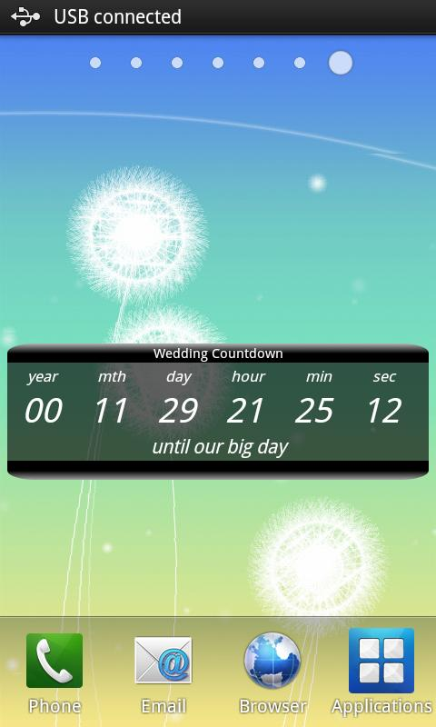 Wedding Countdown Widget - screenshot