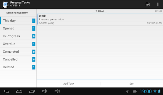 TimeAct To-Do / Tasks List - screenshot thumbnail