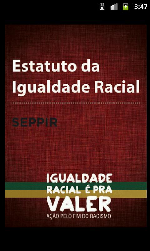 Estatuto da Igualdade Racial- screenshot