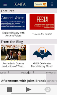 KMFA Public Radio App- screenshot thumbnail