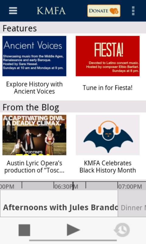 KMFA Public Radio App - screenshot