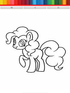 COLORING FOR LITTLE PONY KIDS