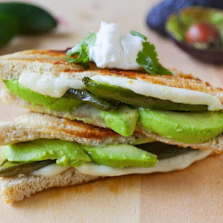 Roasted Jalapeno and Avocado Grilled Cheese Sandwich.