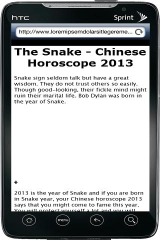 Chinese Horoscope 2013 - screenshot