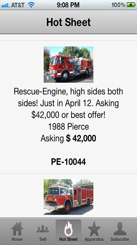 Used Fire Trucks by Firetec® - screenshot