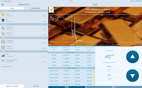 anyoption - Binary Options - screenshot thumbnail
