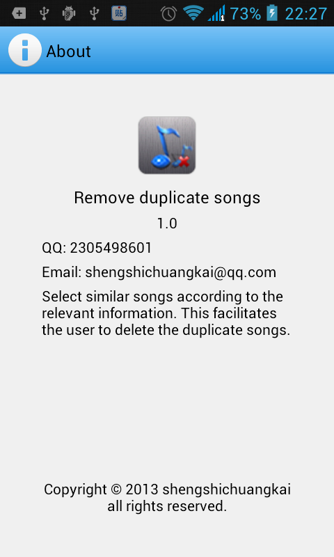 Remove duplicate songs - screenshot